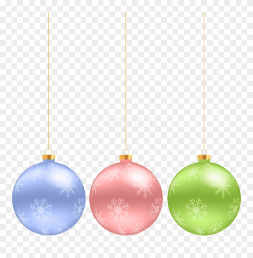 Christmas Hanging Ornaments Png.