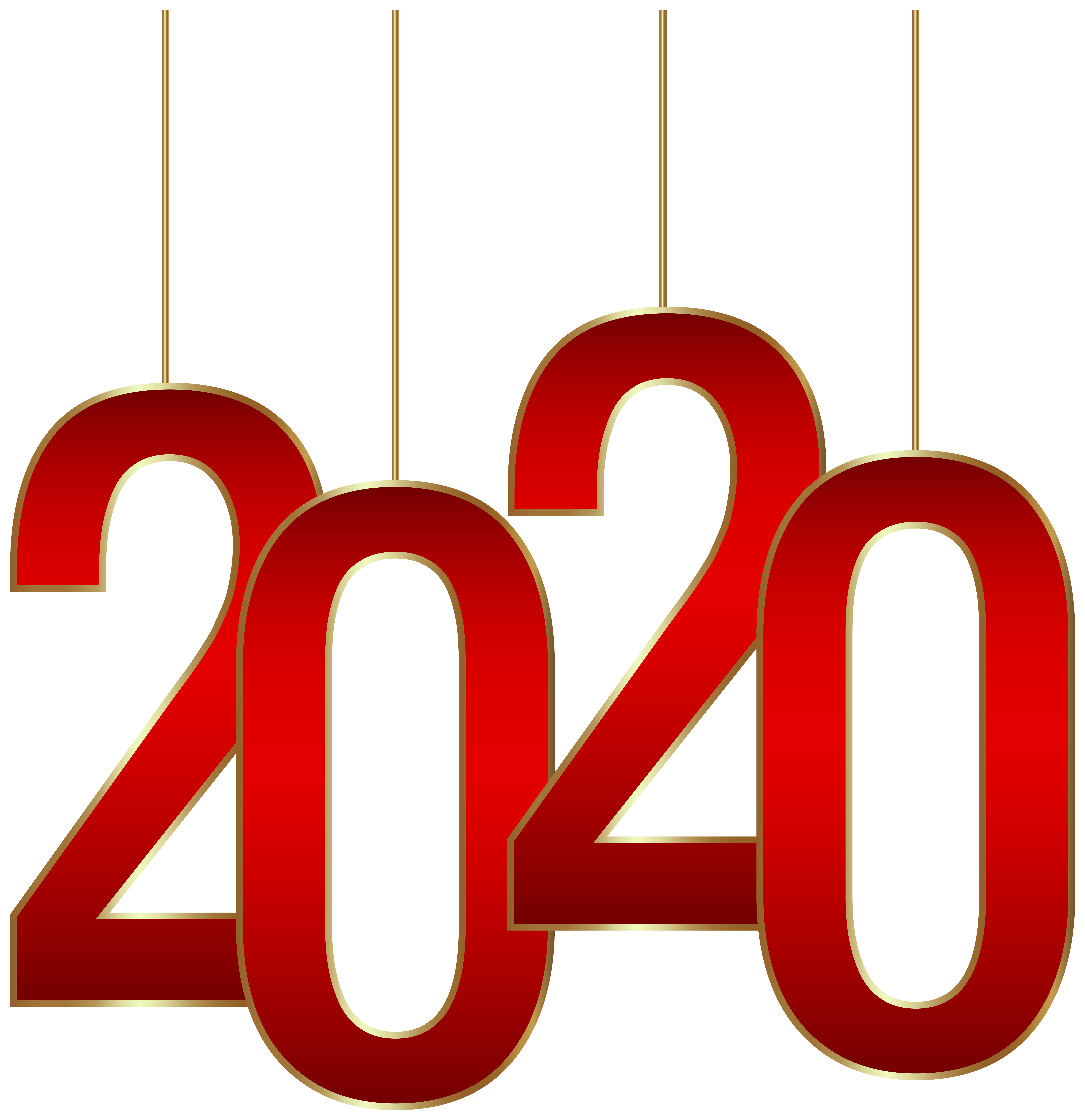 2020 Hanging PNG Clipart.