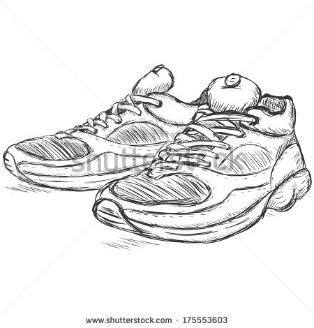 Running Shoes Vector Stock Photos, Royalty.