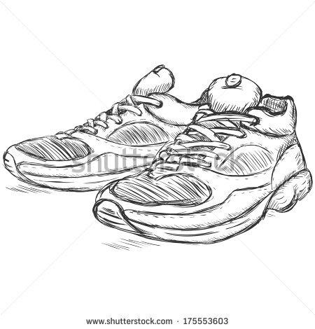 Running Shoes Vector Stock Photos, Royalty.