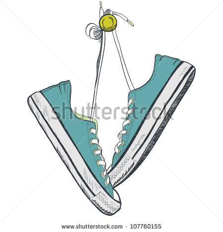 Sneakers Hanging Stock Images, Royalty.