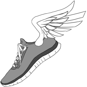 Cartoon Running Shoes Clipart.