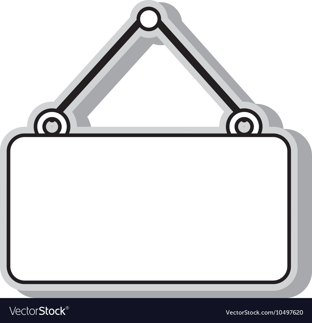 Hanging sign blank isolated.