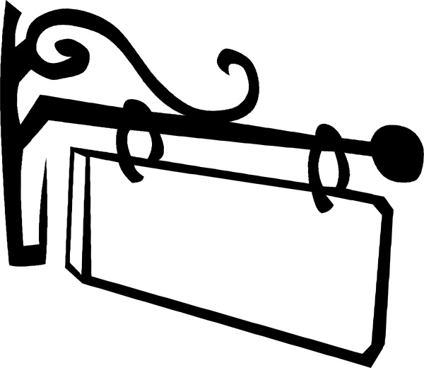 Old Hanging Sign clip art Free vector in Open office drawing svg.