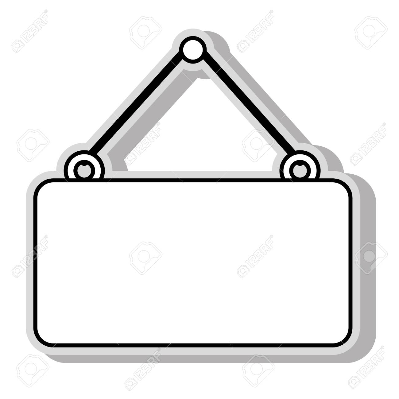 hanging sign blank.
