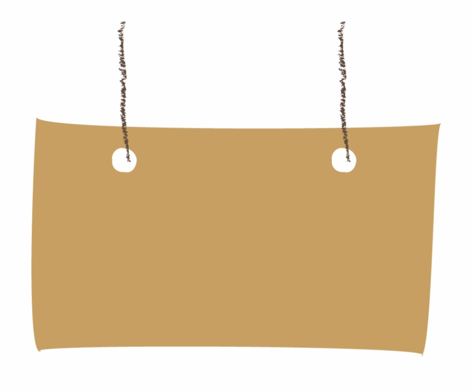 Hanging Sign Board Png.