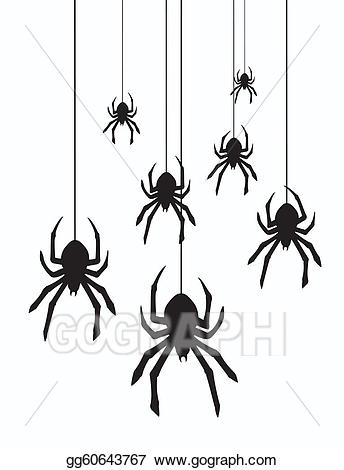 Hanging spider clipart 4 » Clipart Station.