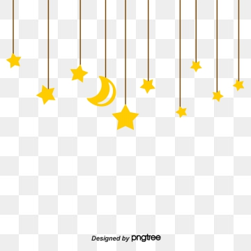 Hanging Stars PNG Images.