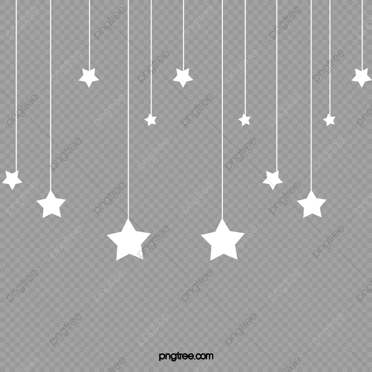 Hanging Stars, Web Page, Star, Material PNG Transparent Clipart.