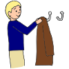 Hang Up Jacket Art Clipart.