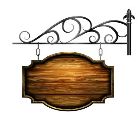 6,819 Hanging Wooden Sign Stock Vector Illustration And Royalty Free.