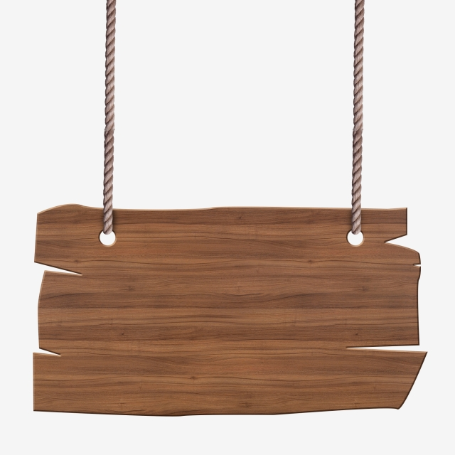 Wooden Hanging With Rope, Wood, Sign, Hanging PNG Transparent.