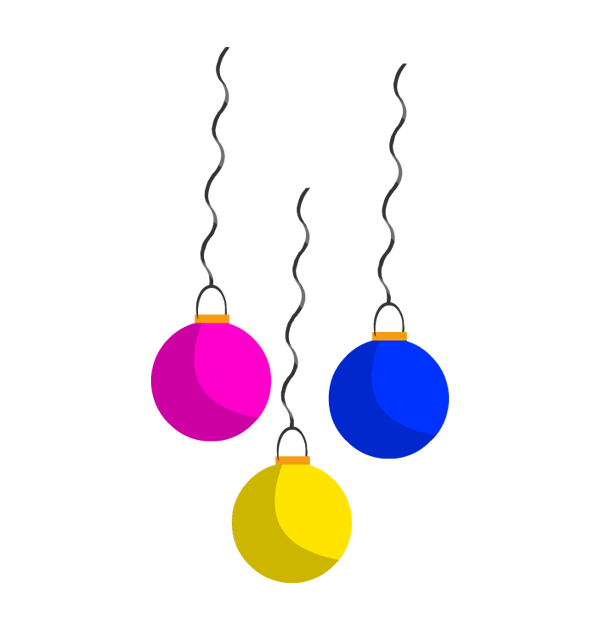clip art new year hangings strings decorations.