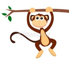 Clipart monkey hanging.