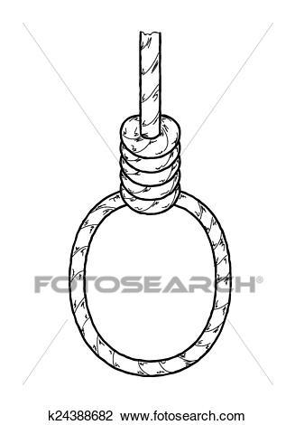 Hangman`s noose Clipart.