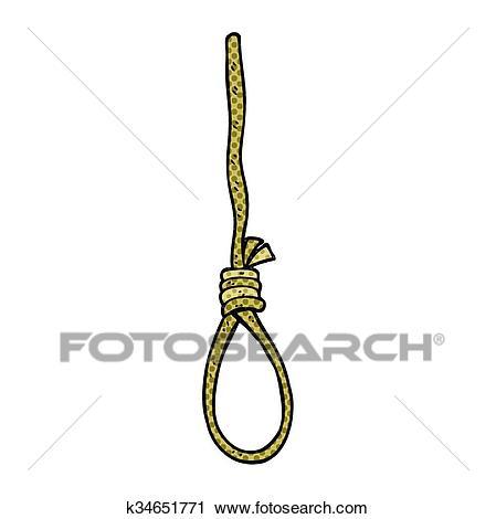 Cartoon hangman's noose Clipart.