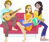Hang out Clipart Vector Graphics. 720 hang out EPS clip art vector.