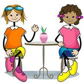 Hangout with friends clipart.