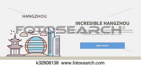 Clip Art of Web Page Chinese City of Incredible Hangzhou k32808138.