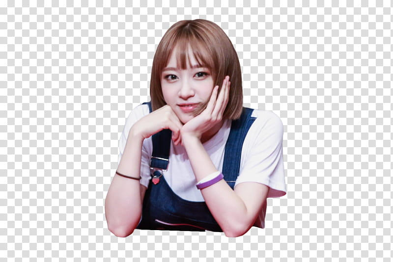 EXID HANI , smiling woman putting hand on face transparent.