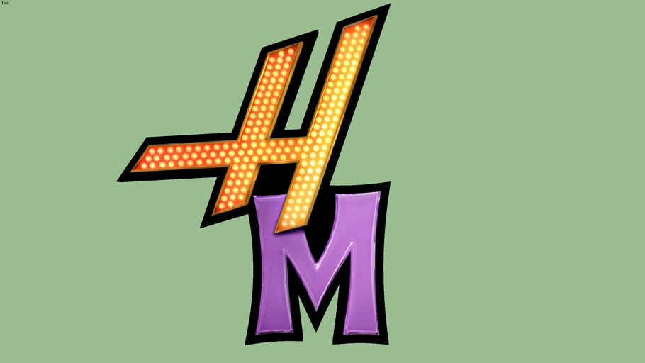 Hannah Montana Logo (HM Only) Highly Detailed.