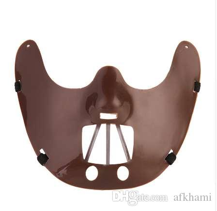 Halloween Horrible Party Mask The Silence of the Lambs Movie Hannibal  Lecter Black Steel Tooth Mask For Carnival Cosplay Party.
