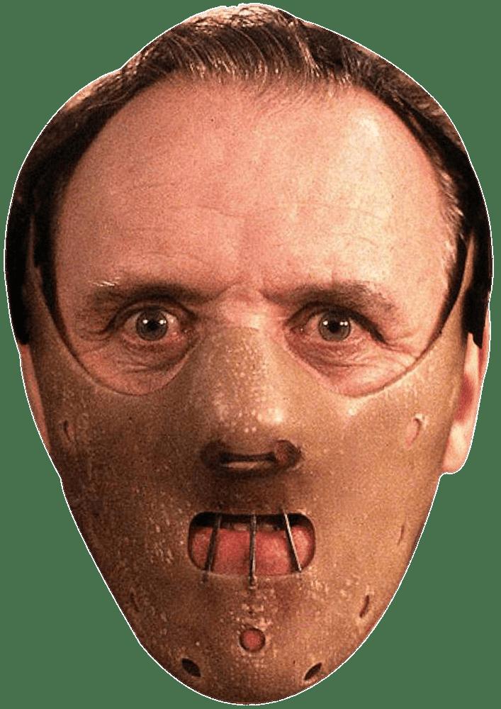 Hannibal Lecter Mask transparent PNG.