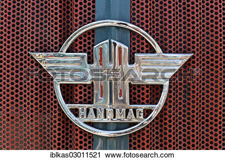 """Stock Photography of """"Cooler with the Hanomag logo, vintage."""