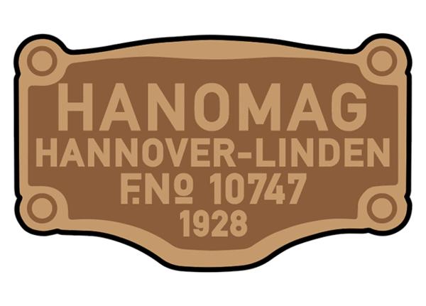 Hanomag works plates.