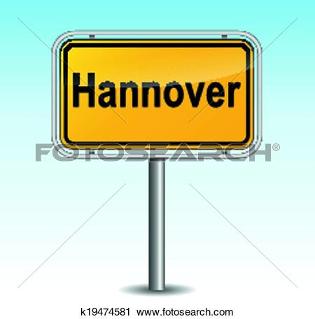 Clipart of Vector hanover signpost k19474581.