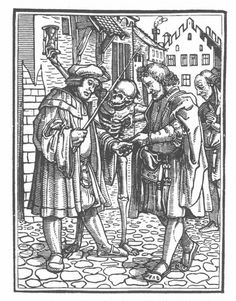 from The Dance of Death, by Hans Holbein the Younger.