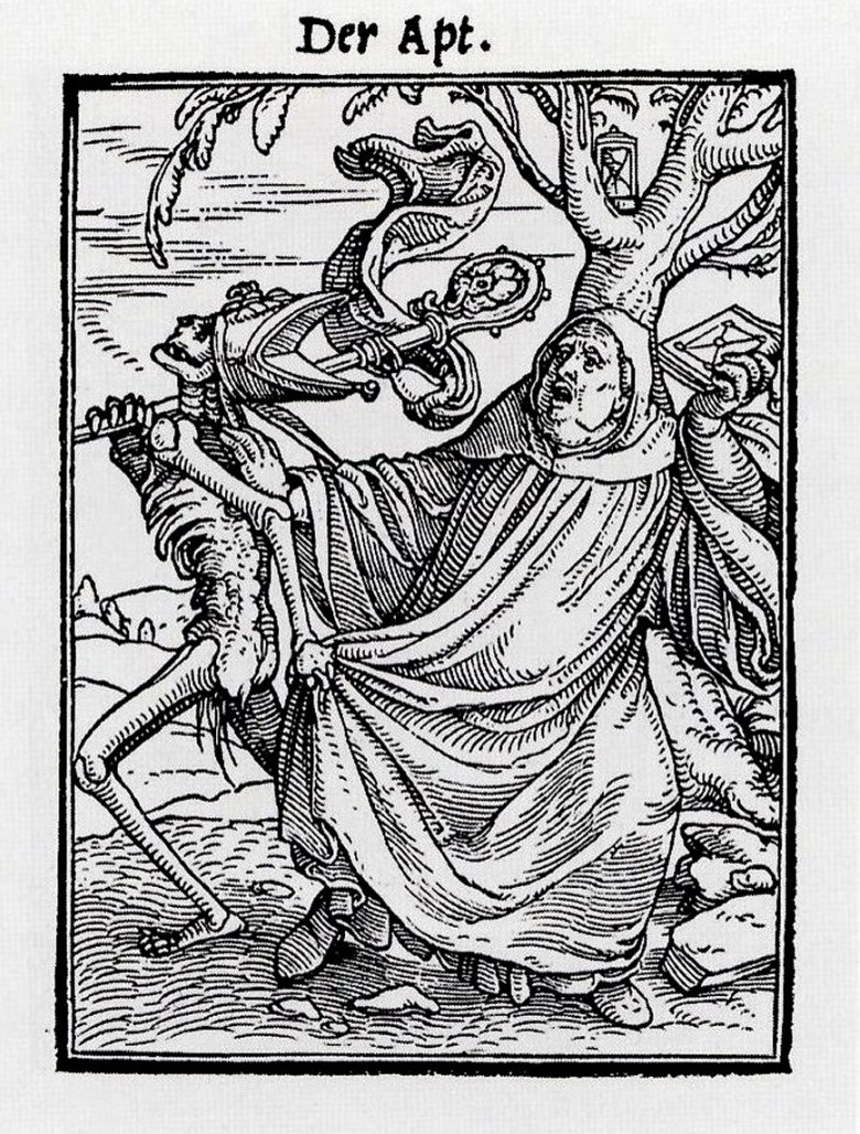 The Abbot From The Dance Of Death By Hans Holbein The Younger.