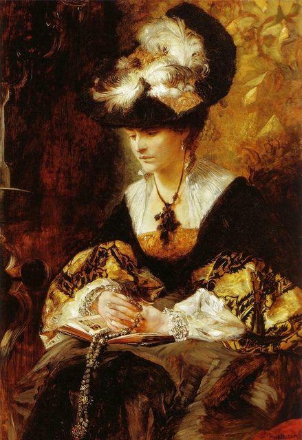 "Hans Makart ""Portrait of Countess Palffy"" 1880."