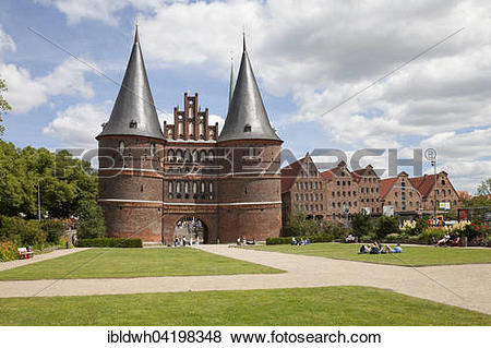 Pictures of Holsten gate and salt storage building, Lubeck.