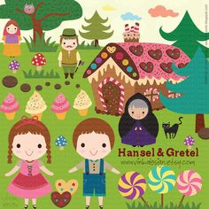 Hansel & Gretel by Rose Kipik, via Behance.