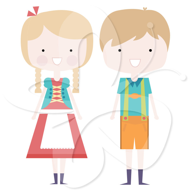 Hansel and Gretel clip art.