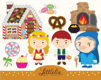 Hansel and gretel house clipart.