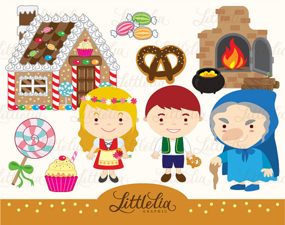 Hansel and Gretel clipart set/ instant download.