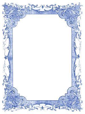 Vintage Blue Frames and Stars.