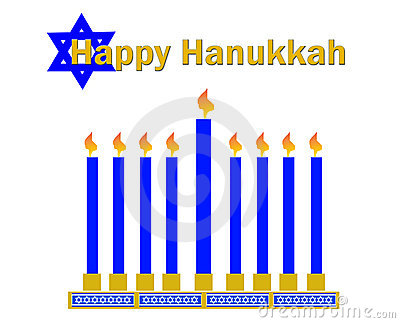 Happy Hanukkah Clipart Royalty Free Stock Photography.