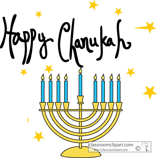 Happy Hanukkah Menorah » Clipart Station.