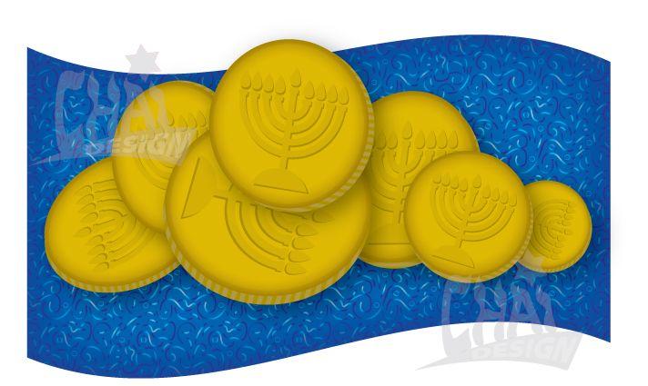 Hanukkah Gelt Clip Art from ChaiDesign.