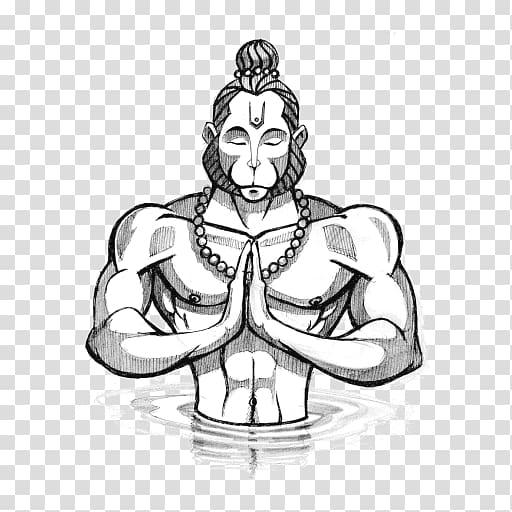 Hanuman Chalisa Shiva Hinduism Thai art, Hanuman transparent.