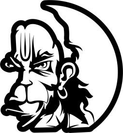 iDesign Hanuman Face 5inch Windows Car Sticker.