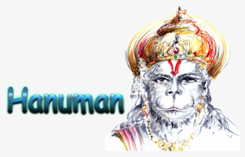 Free Hanuman Face Clip Art with No Background.