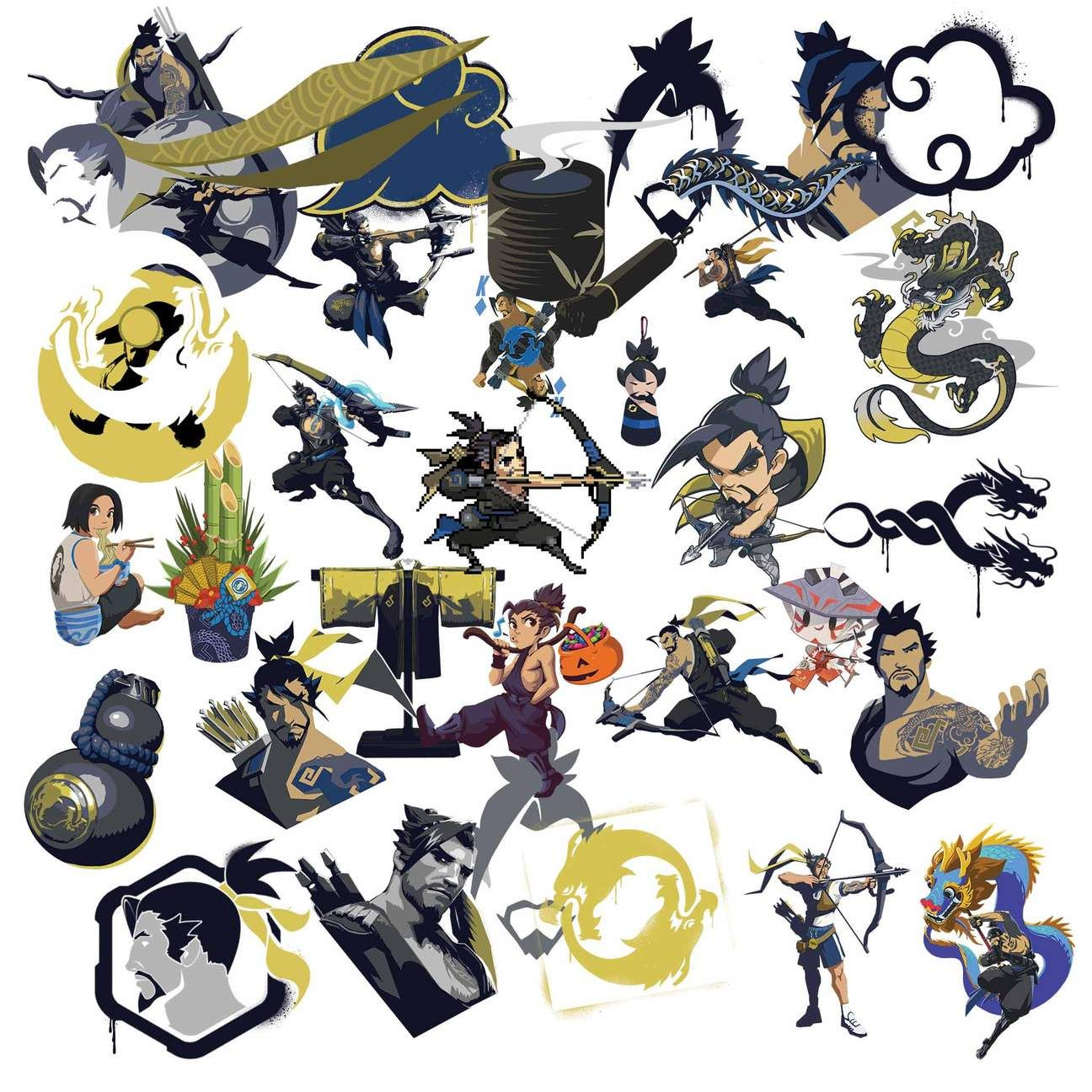 Overwatch Hanzo Clipart in 2019.