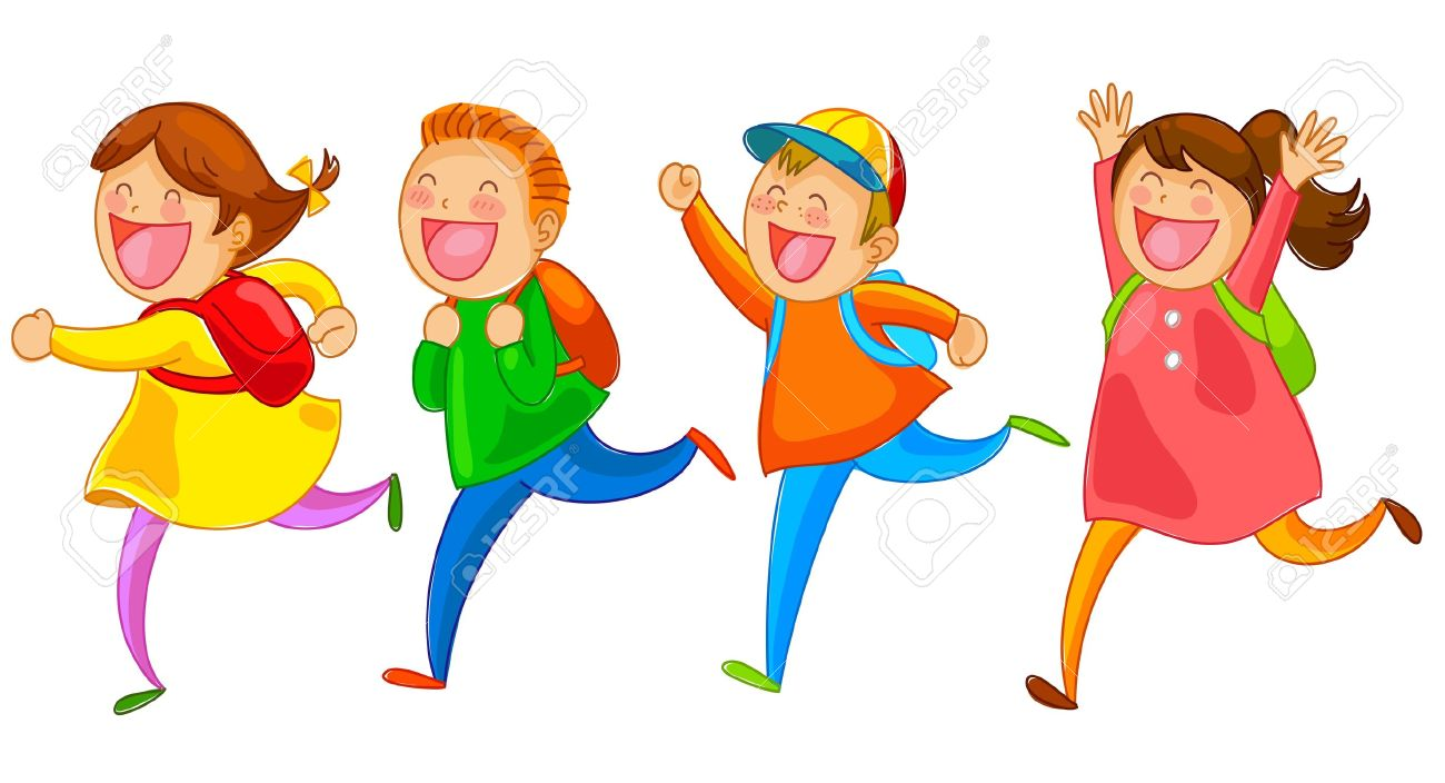 School Kids Running Happily Royalty Free Cliparts, Vectors, And.