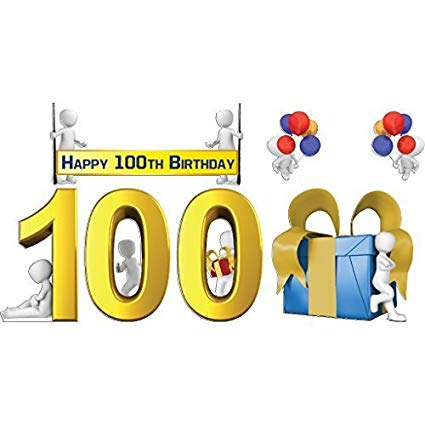 VictoryStore Yard Sign Outdoor Lawn Decorations: Happy 100th Birthday Yard  Decoration, 100th Birthday with Short Stakes.