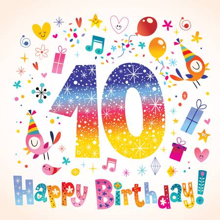 10th Birthday Stock Illustrations, Cliparts And Royalty Free 10th.