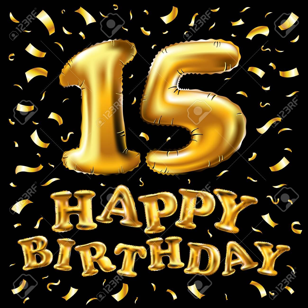 Happy 15th birthday design.